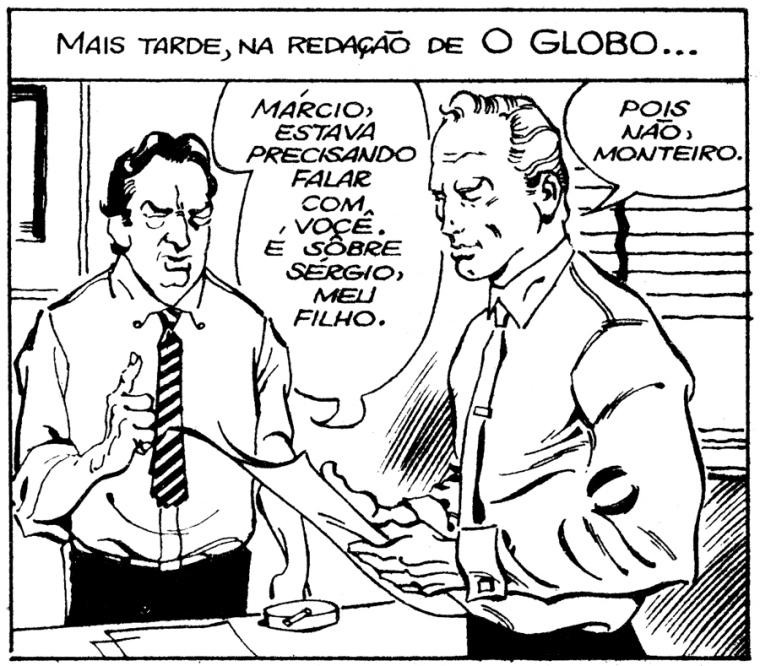 Márcio Moura e o editor de O Globo