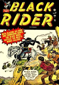 A capa da revista Black Rider 17 foi usada na primeira edição da revista Cavaleiro Negro, da RGE.