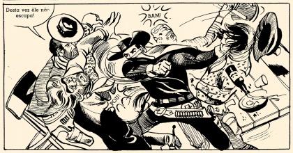 Cavaleiro Negro - quadrinho na página 18, por Gutember.