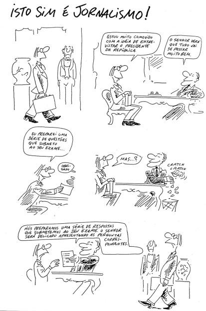 A visão de Wolinski do jornalismo, em 1982.